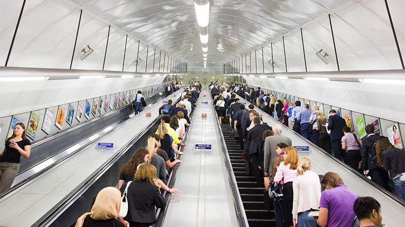 London Busy Escalator Left Side Walking Etiquettes