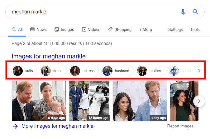Image Filter in Google Universal Search - Page 2 for Meghan Markel