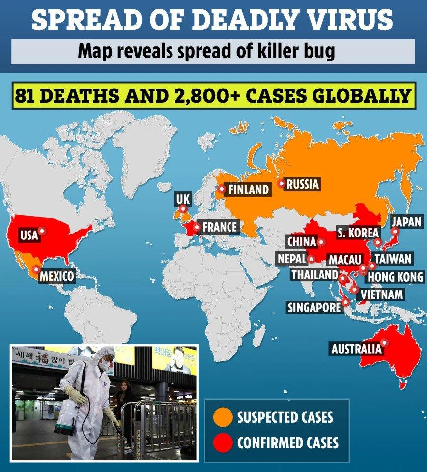 Spread of deadly Coronavirus
