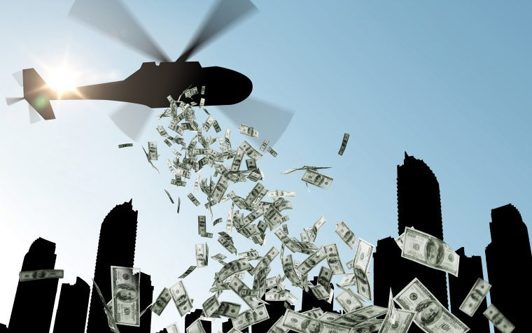 US signed a $2tn stimulus helicopter money