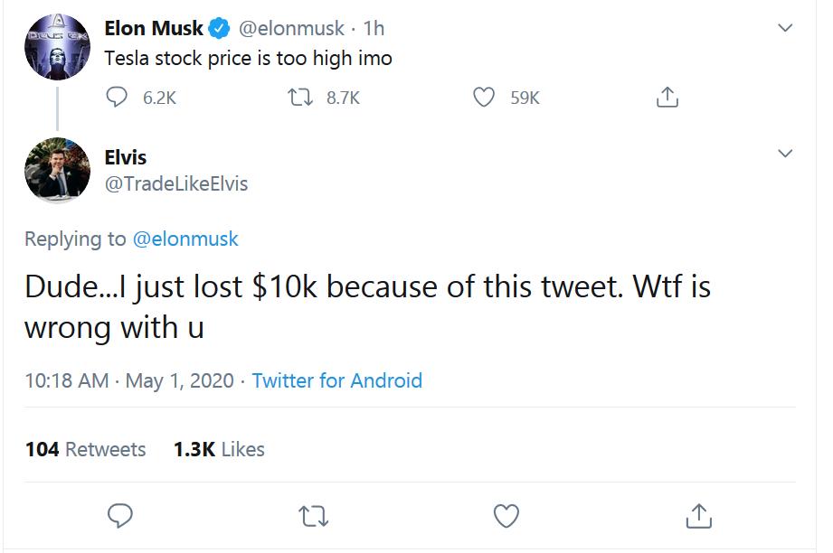 Elon Musk Tweet