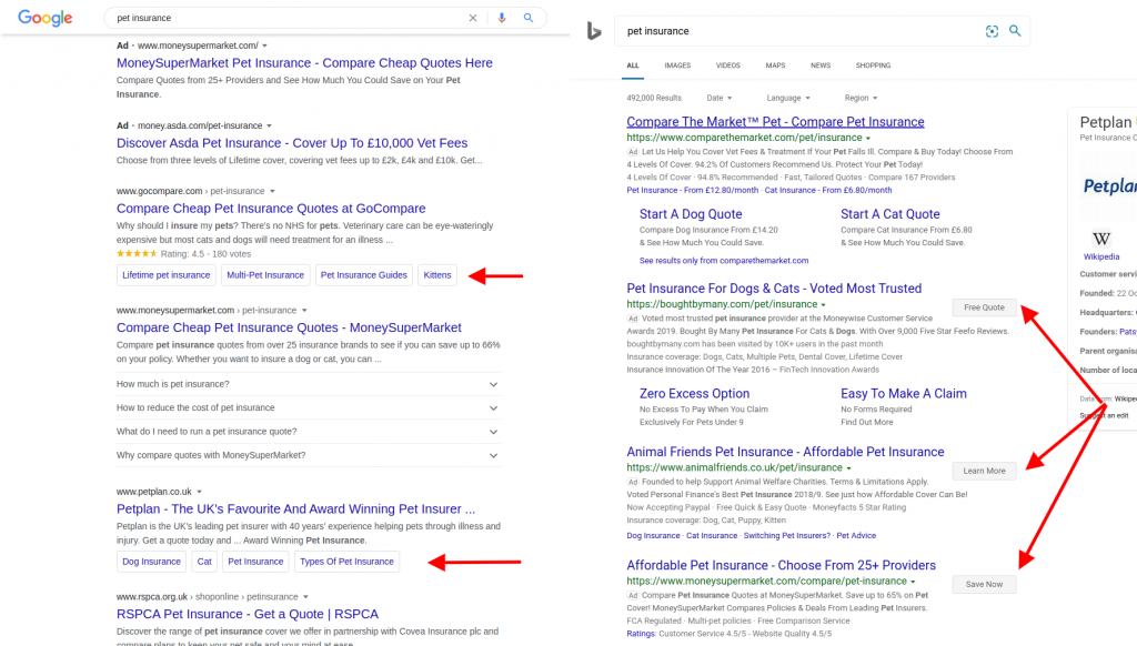 Google SERP Layout Experiment Noticed - Buttons on Sitelinks